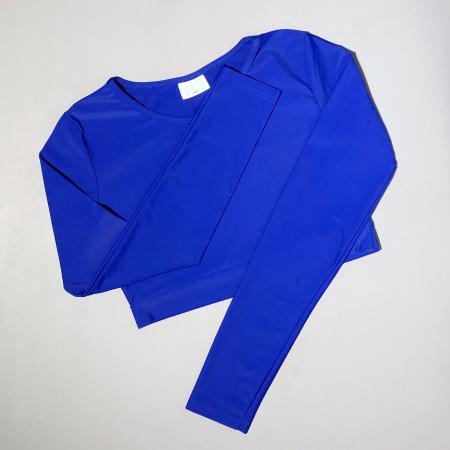 Топ с длинным рукавом Vasalisa синий