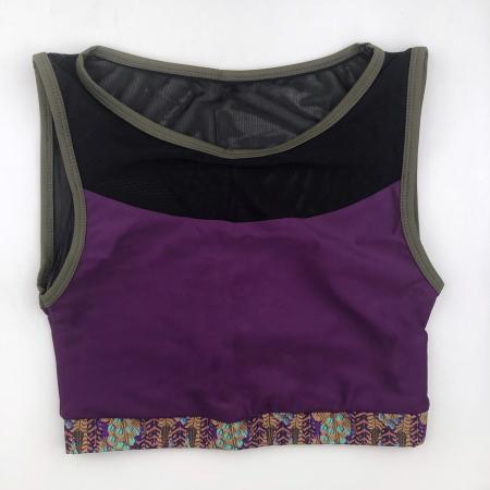Топ c сеткой Vasalisa фиолетовые перья