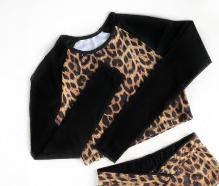 Топ с длинным рукавом Vasalisa леопард