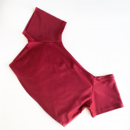 Топ с коротким рукавом Vasalisa бордовый