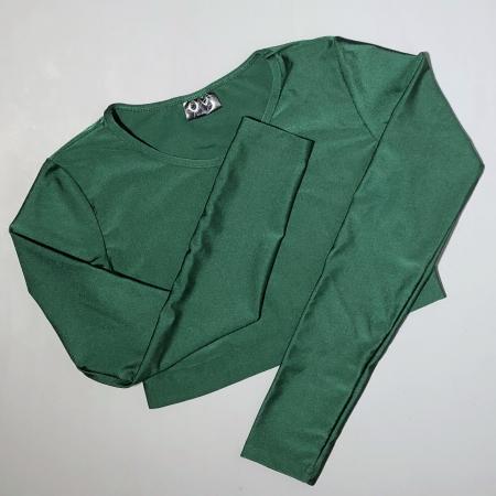 Топ с длинным рукавом Vasalisa темно-зеленый