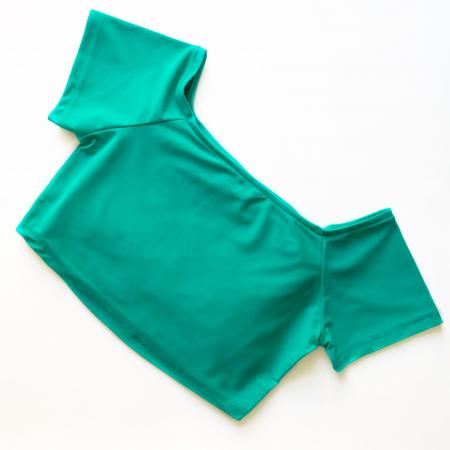 Топ с коротким рукавом Vasalisa светло-зеленый