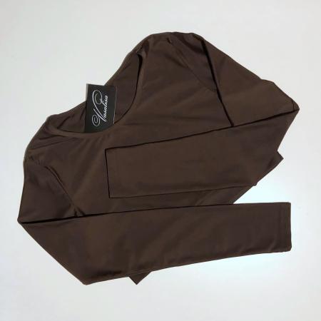 Топ с длинным рукавом Vasalisa коричневый