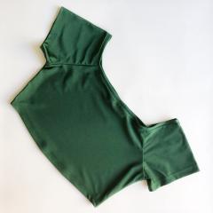 Топ с коротким рукавом Vasalisa зеленый