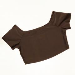 Топ с коротким рукавом Vasalisa коричневый
